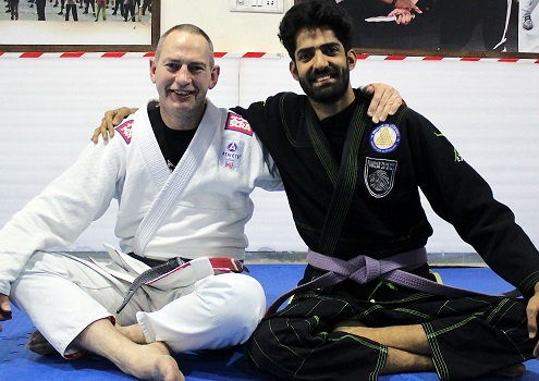 Professor Ian L from USA visits BJJ India