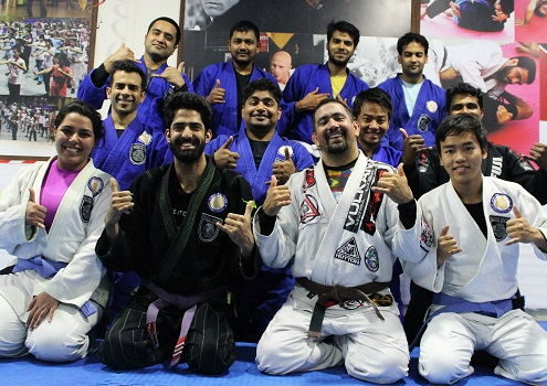 Ivan Alba from San Diego, USA visits BJJ India
