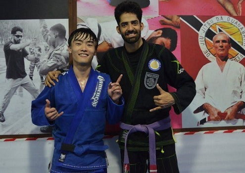 Michael So from Korea visits BJJ India