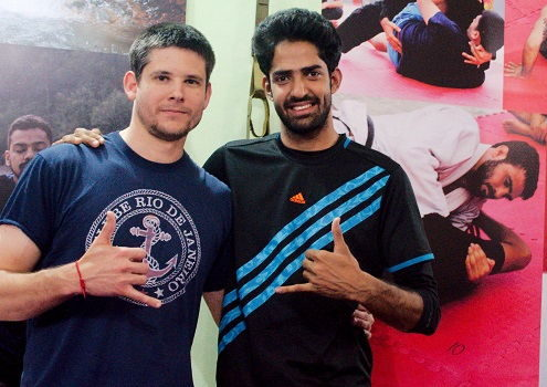 Pedro from USA visits BJJ India