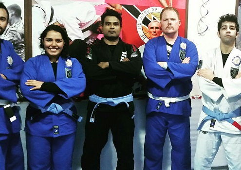 Rowan Bruce from Australia visits BJJ India