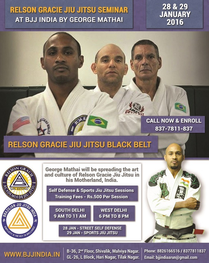 Gracie Jiu Jitsu India Seminar