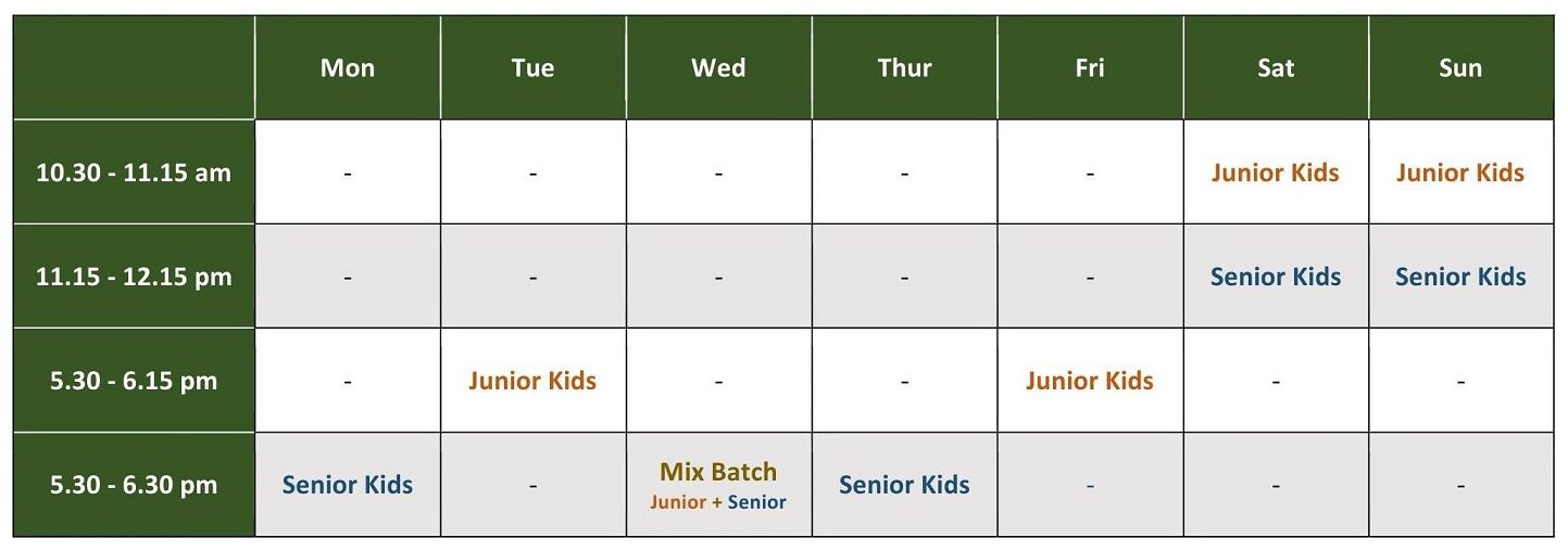 Kids-Martial-Arts-Schedule